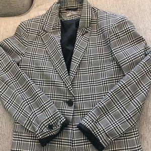 Asos plaid boyfriend style blazer size US 4